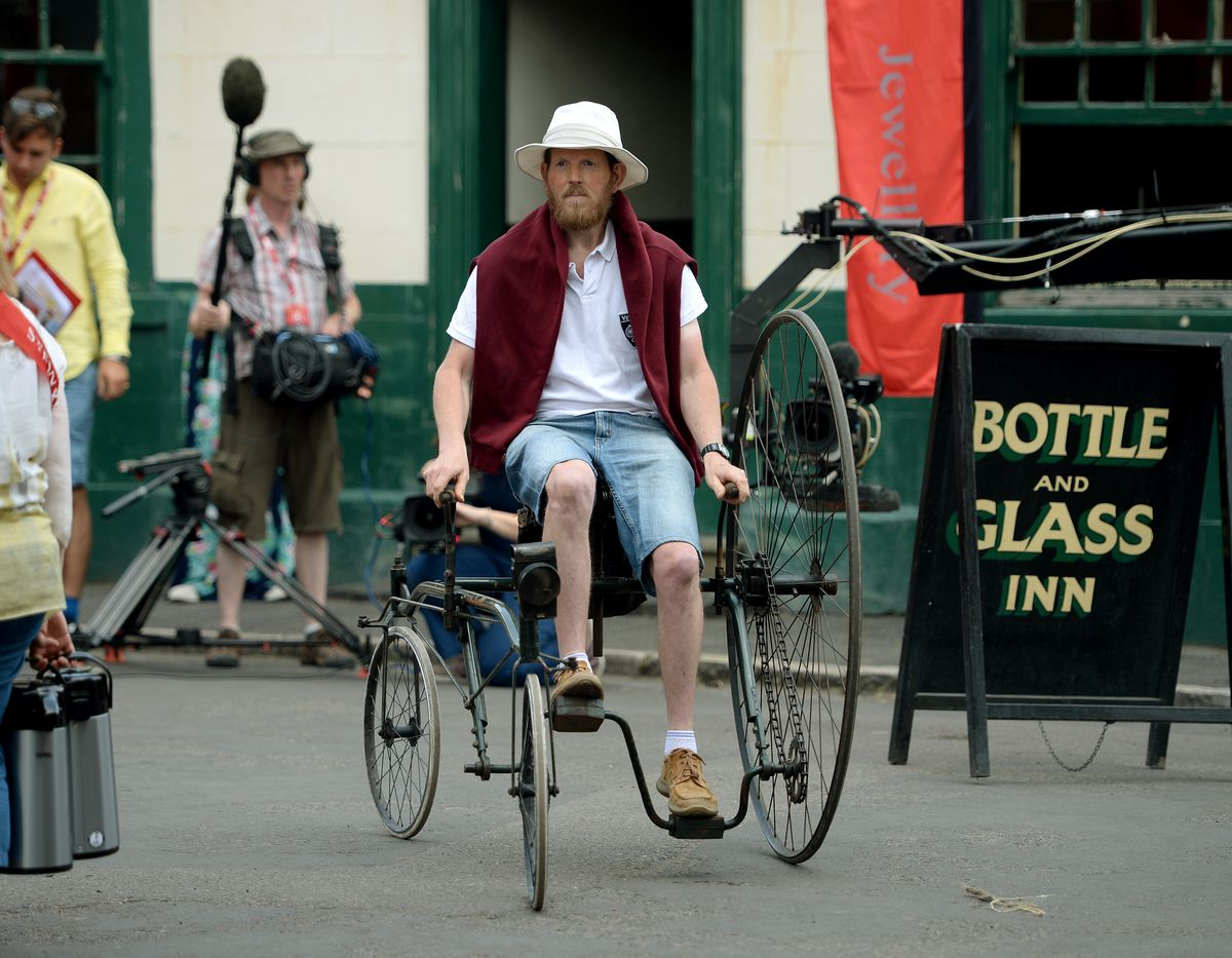 Bob Berry from Walsall, with his Coventry Rotary Tricycle
