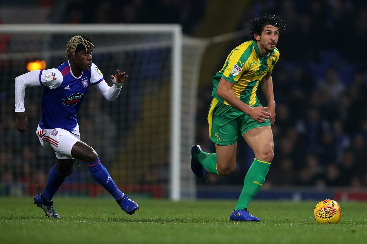 Trevoh Chalobah of Ipswich Town and Ahmed Hegazi of West Bromwich Albion (AMA)