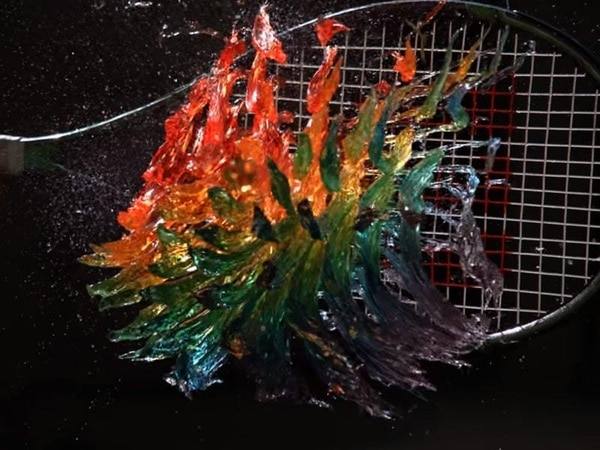 The strange hypnotic beauty of hitting a rainbow jelly with a tennis racket