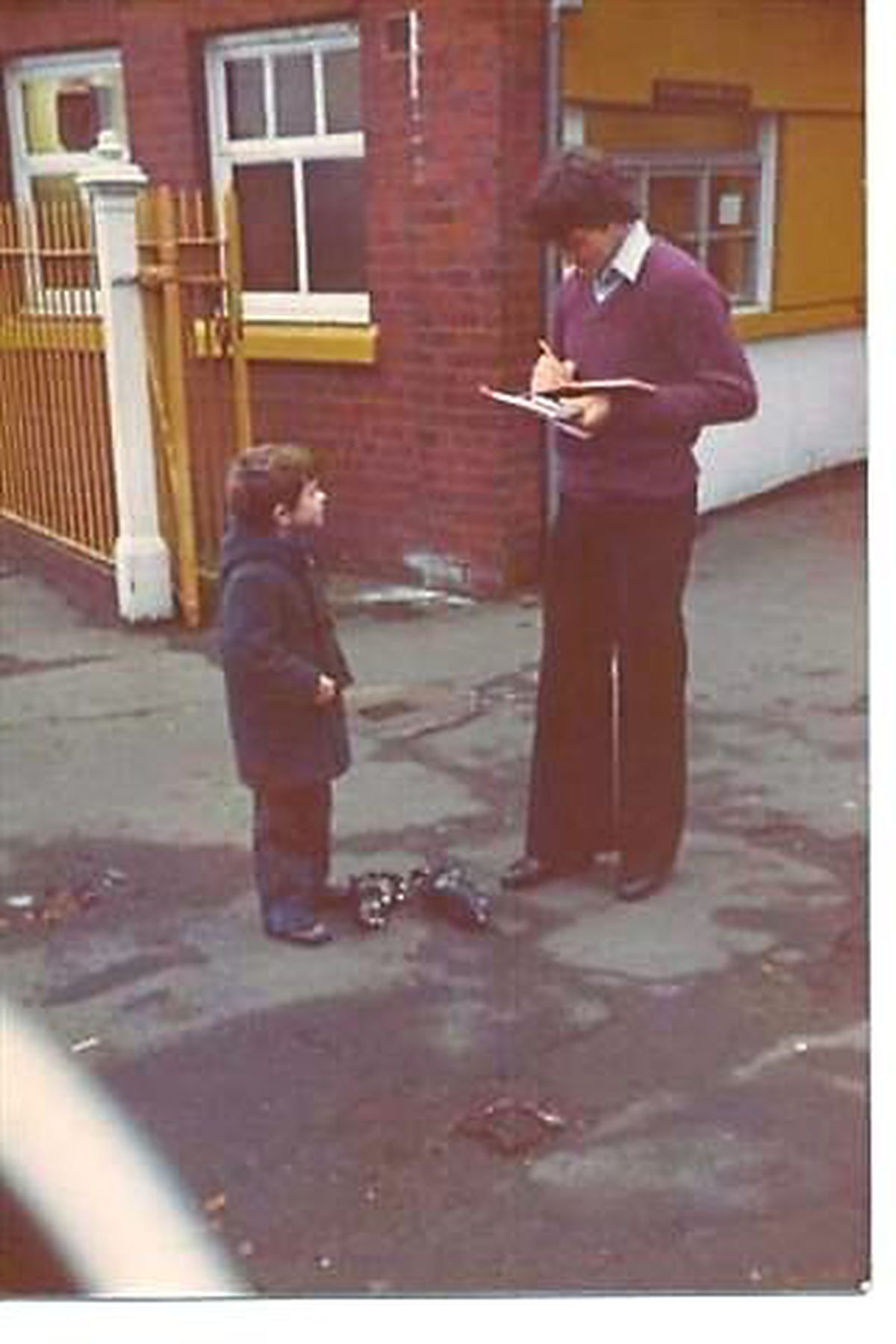 A young Paul Berry collecting John Richards' autograph in the 1970's