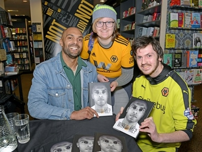 Wolves fans queue out the door to meet Carl Ikeme in Wolverhampton book signing