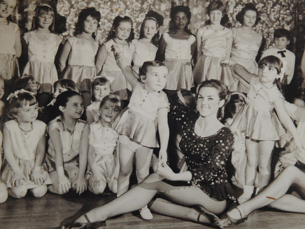 Theresa Harris teaching when she was aged 20