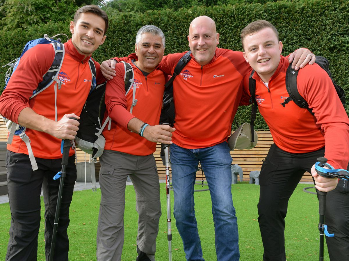 From left, Arron Bawa, his father Suresh, Neil Taylor and Tom Hatton