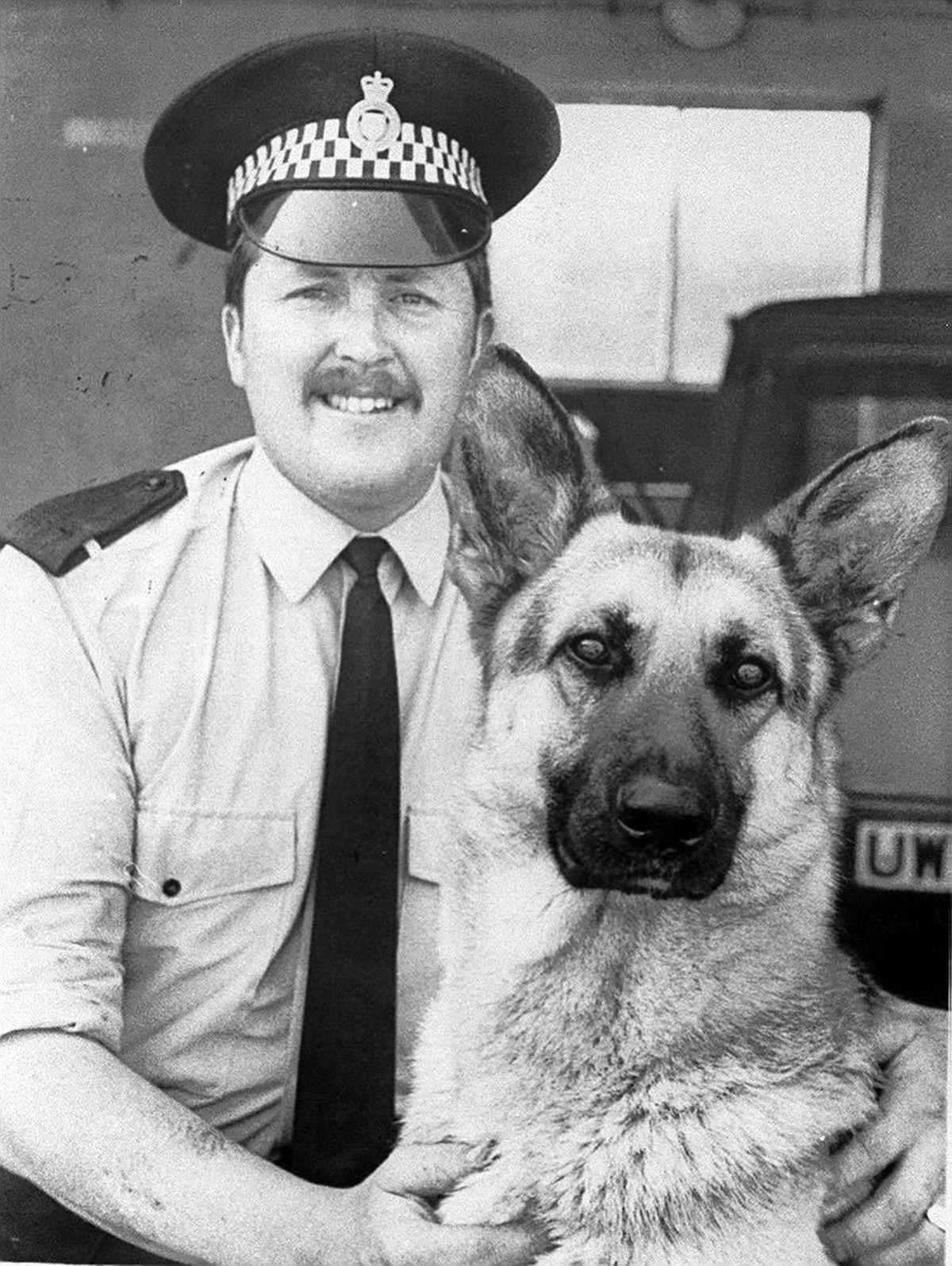 Police dog hander Ken Young and his dog Karl