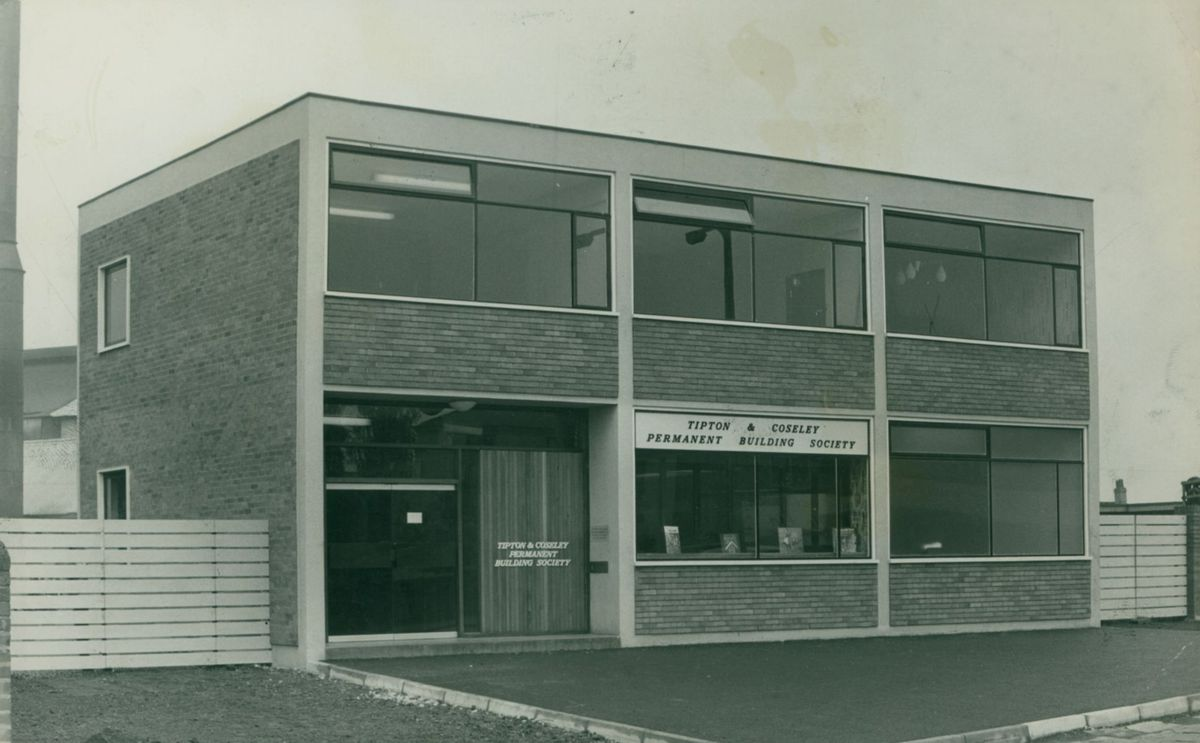 The new Tipton & Coseley Permanent Building Society headquarters in High Street, Tipton, in May, 1963