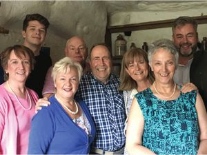 The cast of Stranded by Kinver Players