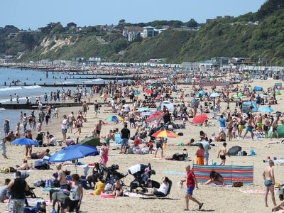 In Pictures: Basking on the beach in bank holiday sunshine