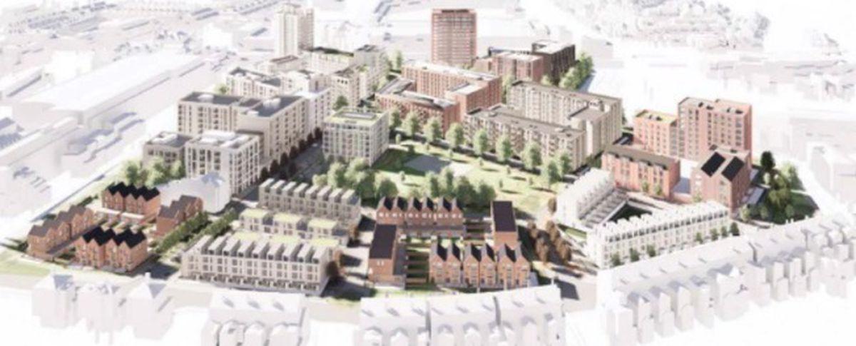 A visualisation of the Athlete Village. Photo: Birmingham City Council