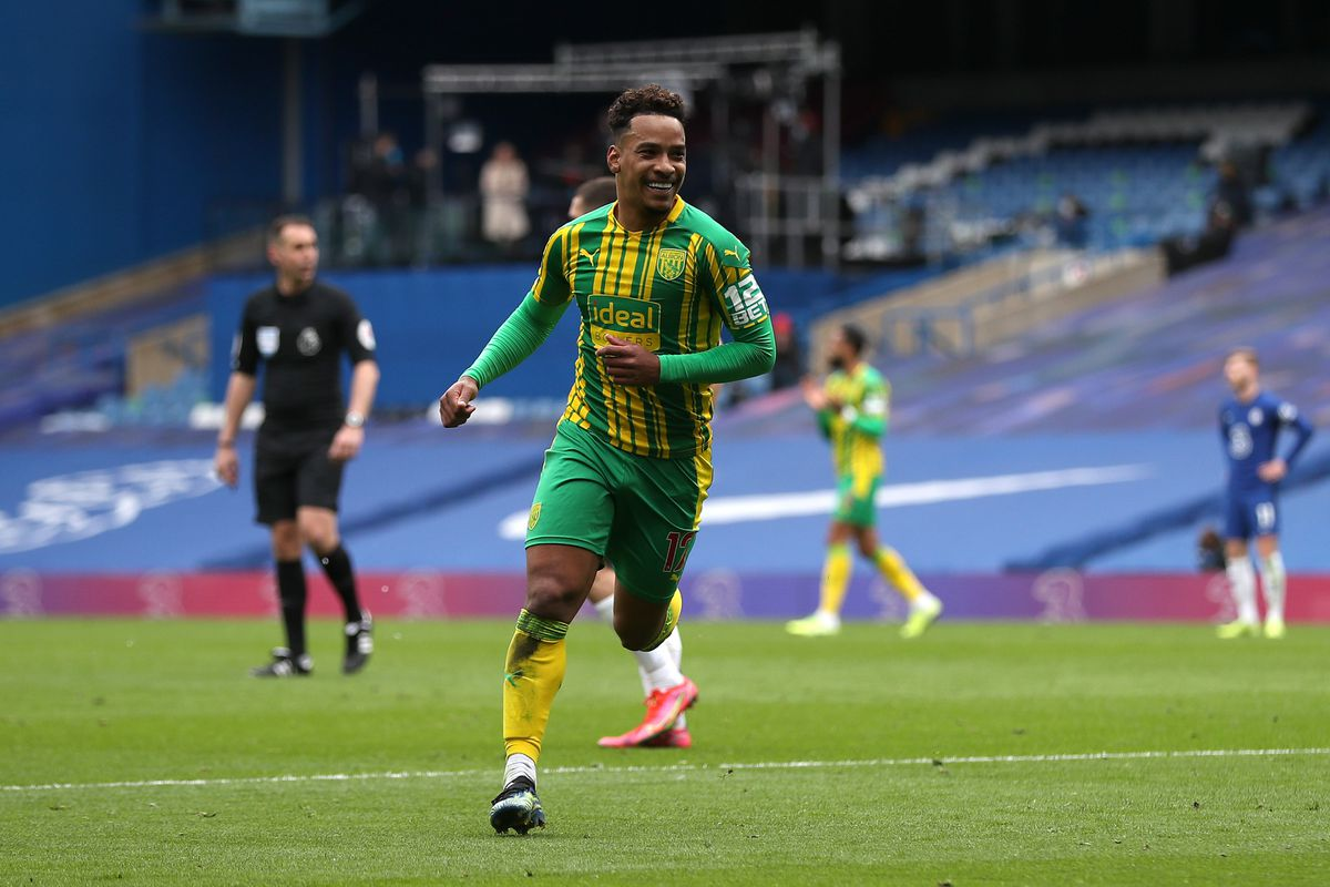 Matheus Pereira of West Bromwich Albion celebrates after he scores a goal to make it 1-2. (AMA)