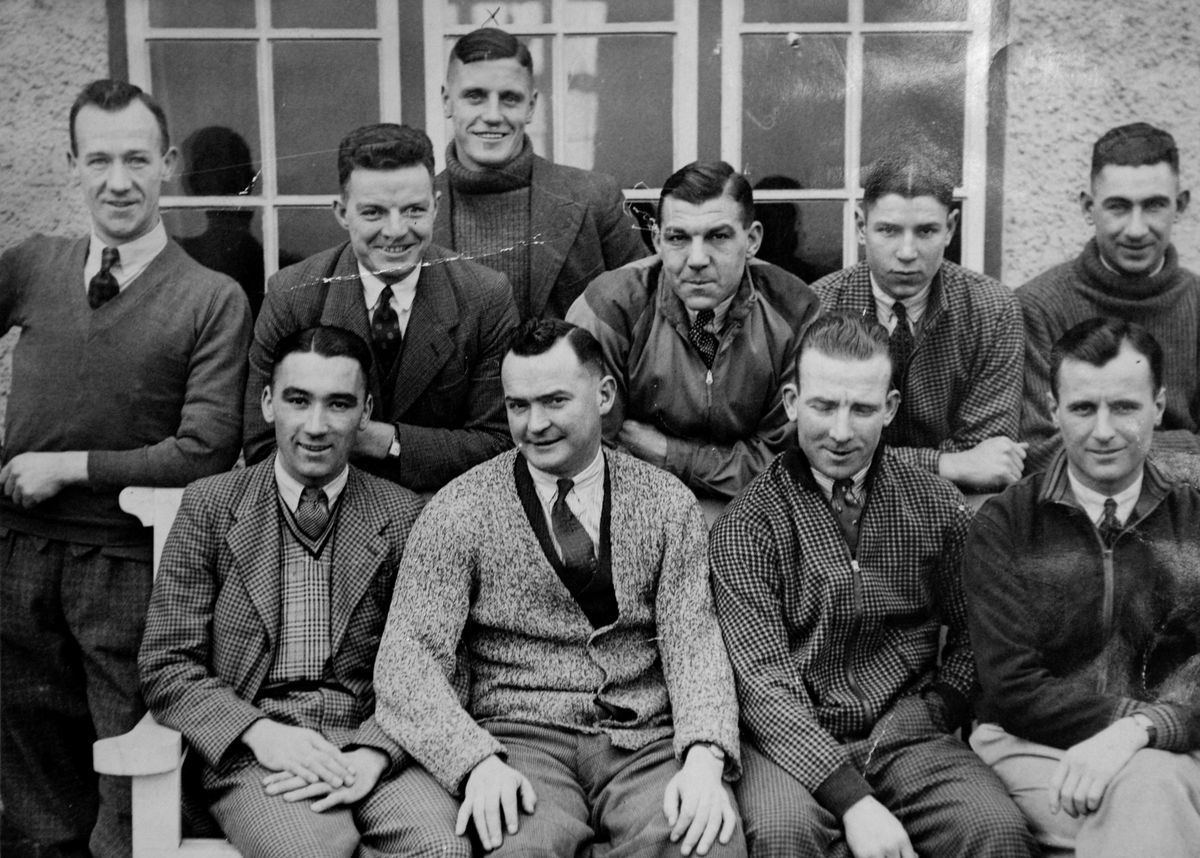 Sporting star Tom Grosvenor is pictured standing at the back, centre, with fellow players from Birmingham City Football Club