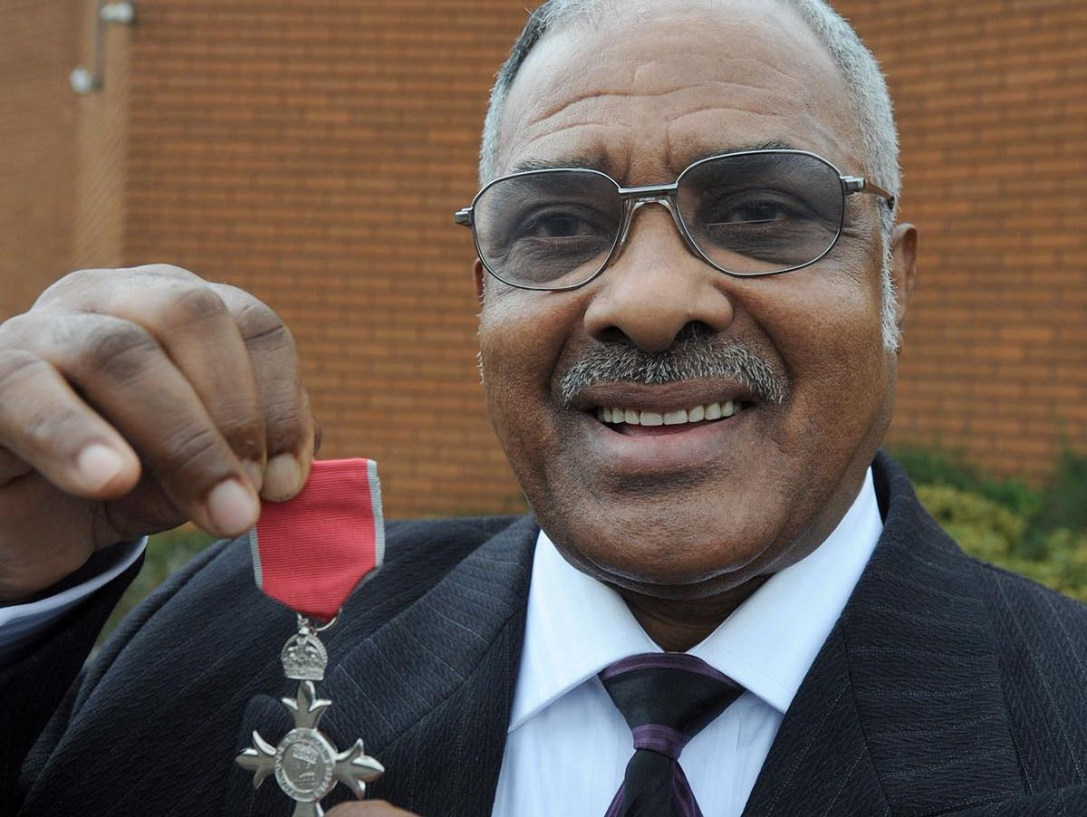Bishop Theophilus McCalla of the Church of God of Prophecy was awarded an MBE in 2008