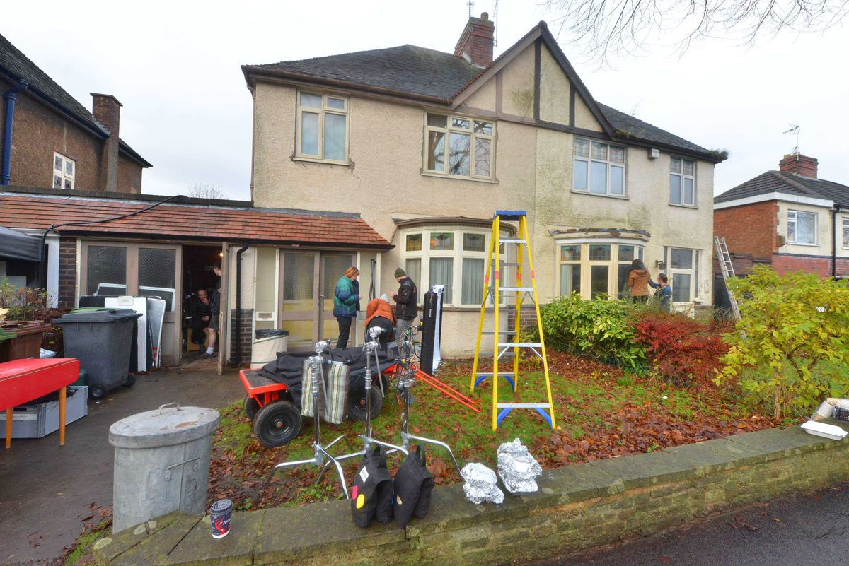 Part of a BBC drama is being filmed at a home in Goldthorn Avenue in Wolverhampton.