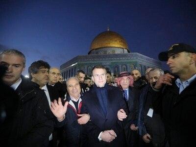 Emmanuel Macron loses temper with Israeli security agents during Jerusalem visit