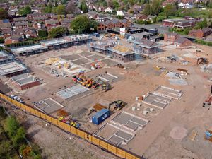 An aerial pic of ongoing building work on Sunnyside housing development off Northgate, Aldridge