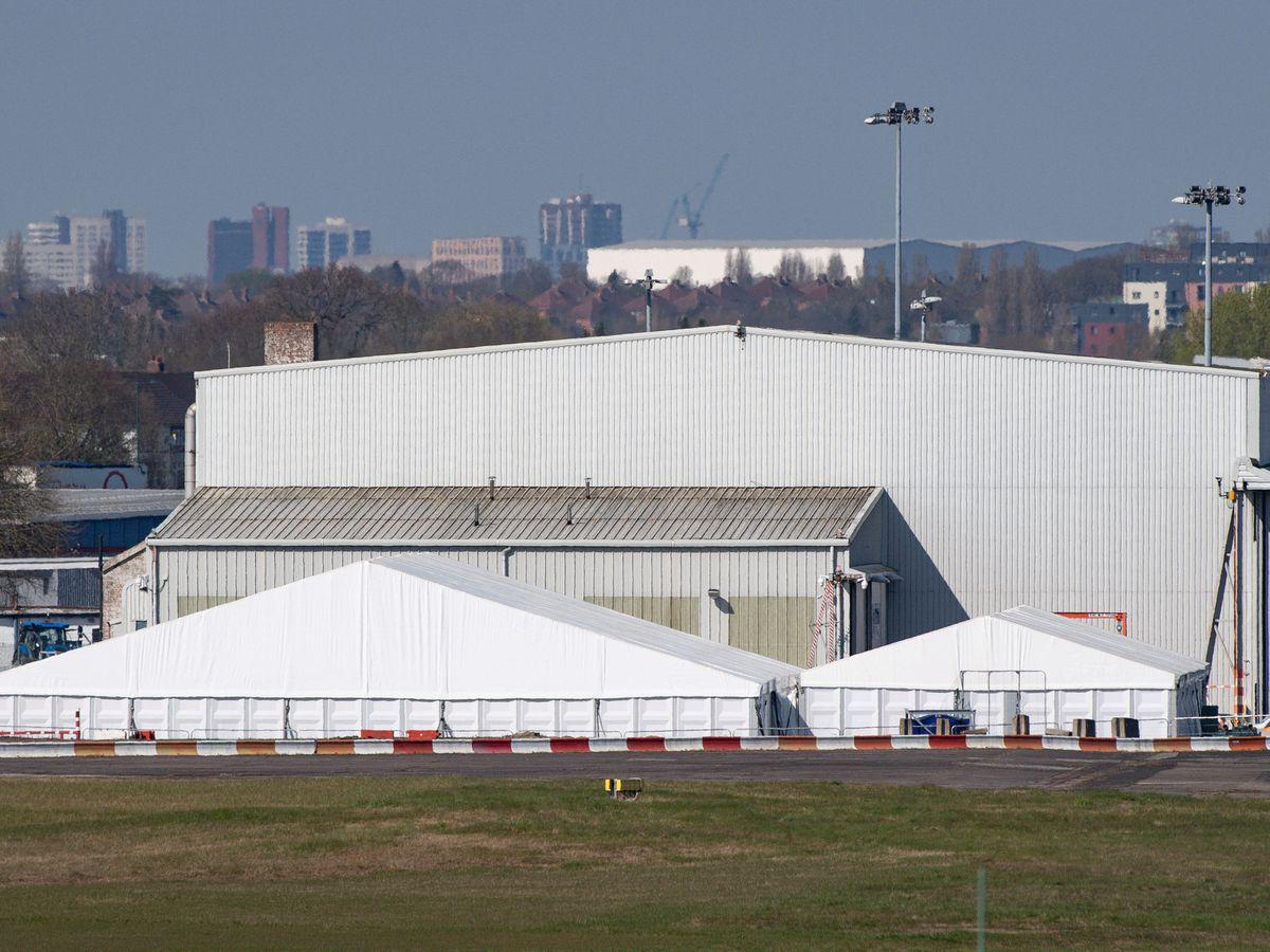 The temporary mortuary at Birmingham Airport