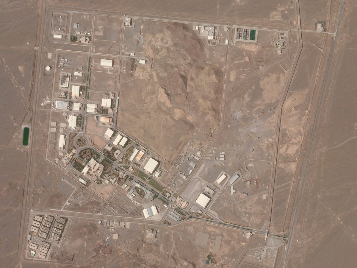Aerial view of Iran's Natanz nuclear facility