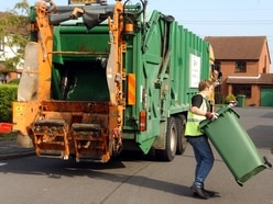 Unwanted green bins awaiting collection across Wolverhampton