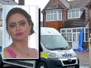 Sarbjit Kaur, inset, was found dead at the family home in Wolverhampton