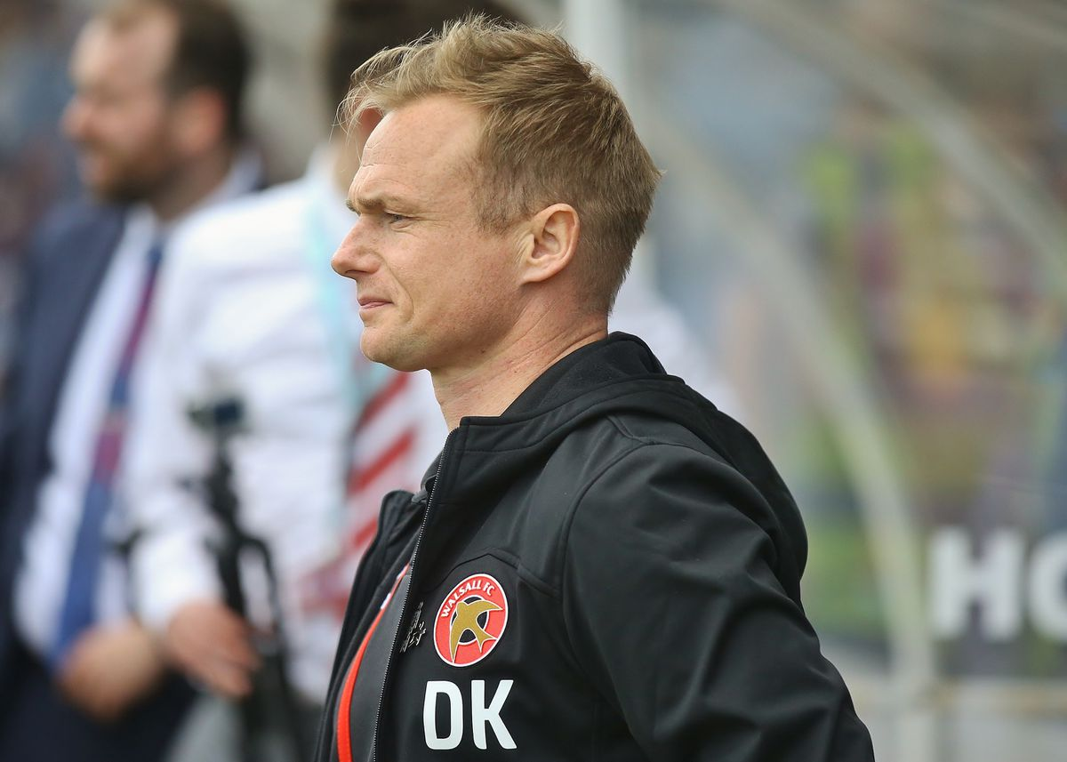 Walsall manager Dean Keates