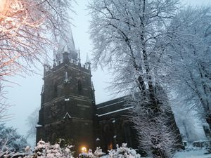 All Saints Church in Sedgley looks beautiful in the snow. Taken by Stacey Harrison