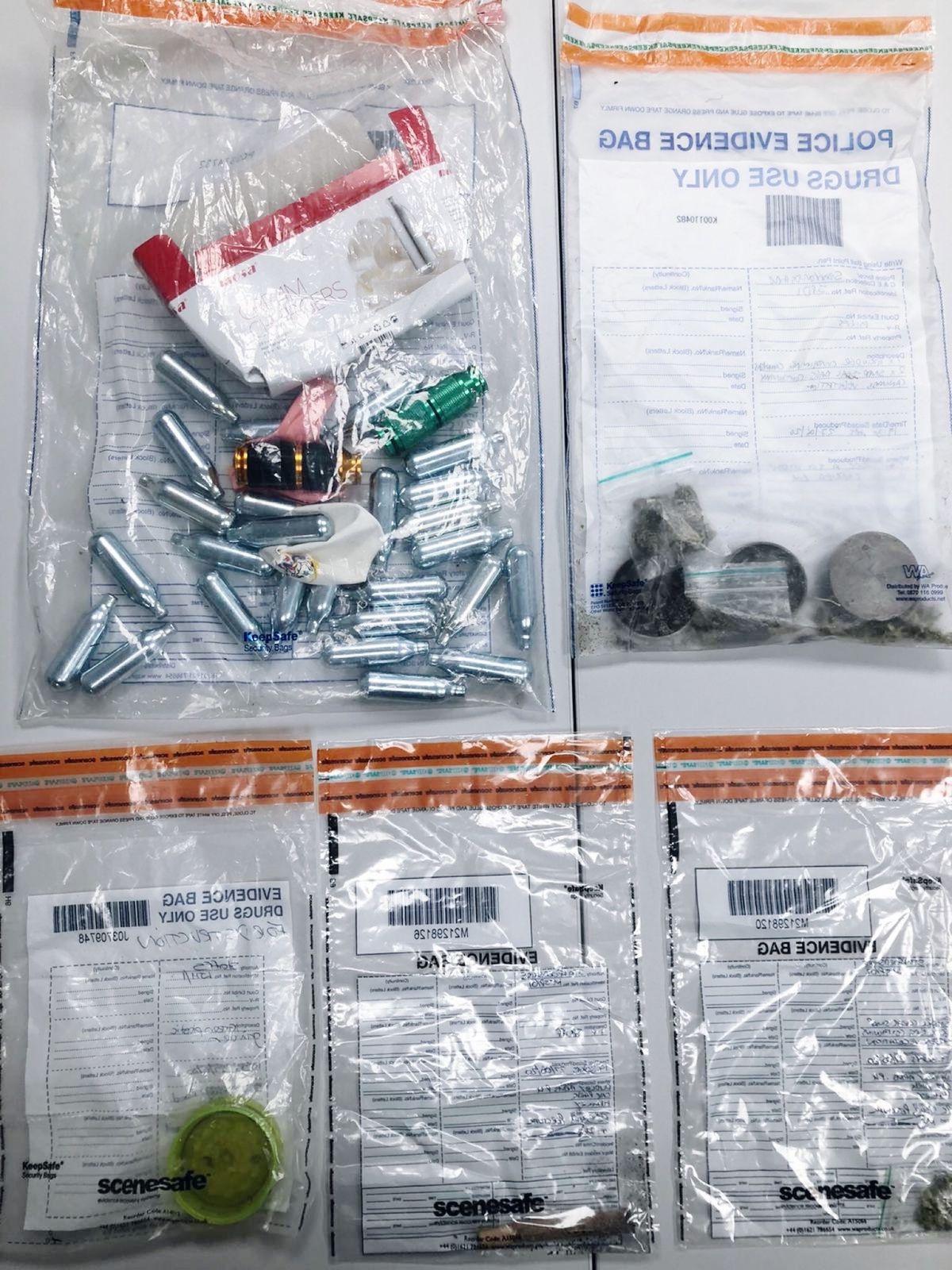 Items seized  by police. Photo: South Staffs Police