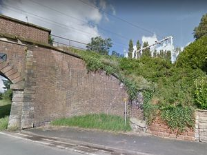 Rail services were disrupted on the line between Penkridge and Stafford (Image by Google Street map)