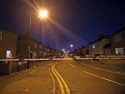 Police probe whether quadruple stabbing is linked to north London shooting