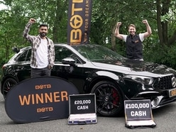 Dudley man's delight as he wins £120,000 cash and £50,000 Mercedes