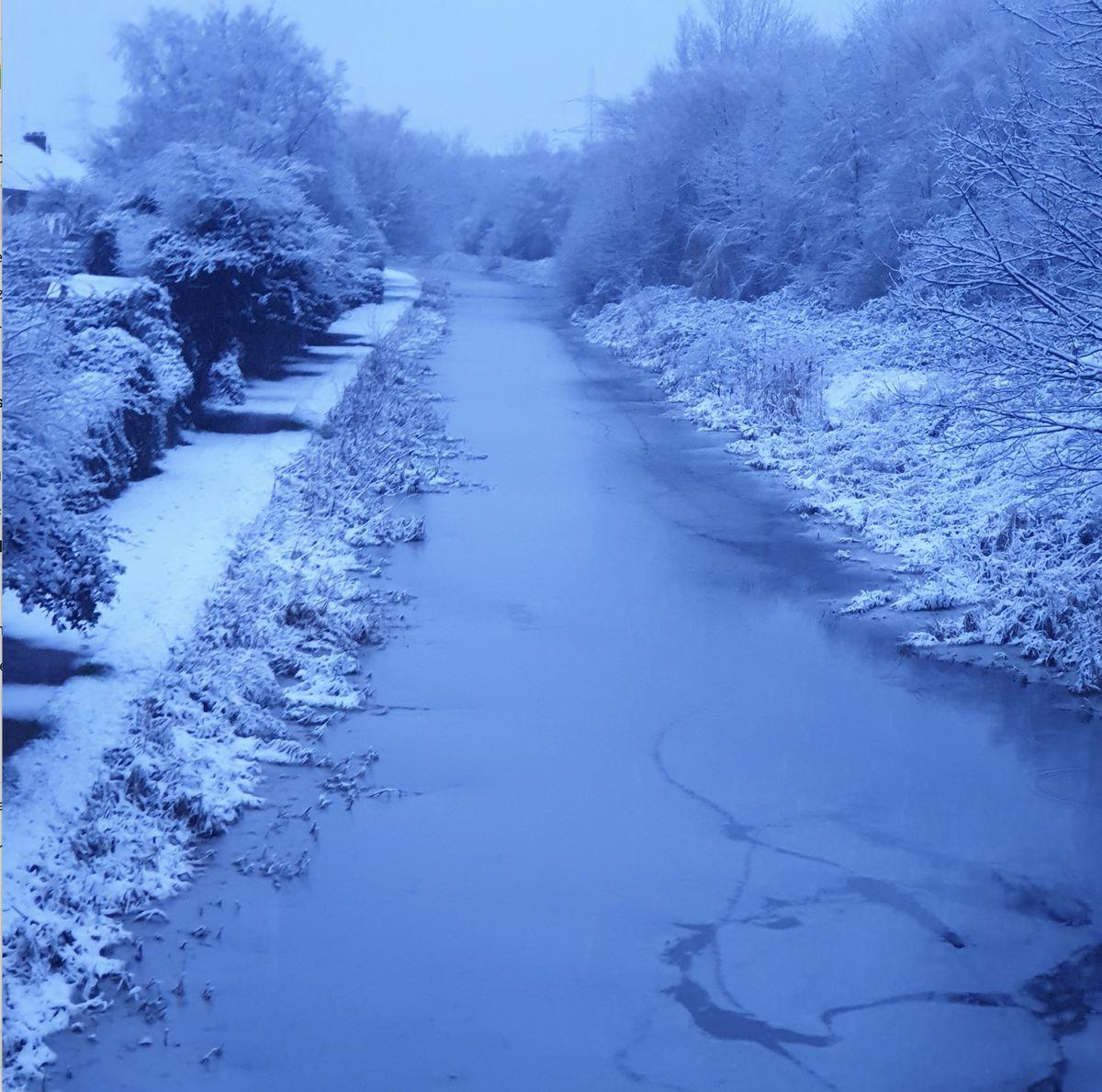 A snowy canal scene in Darlaston. By Jamie Green.