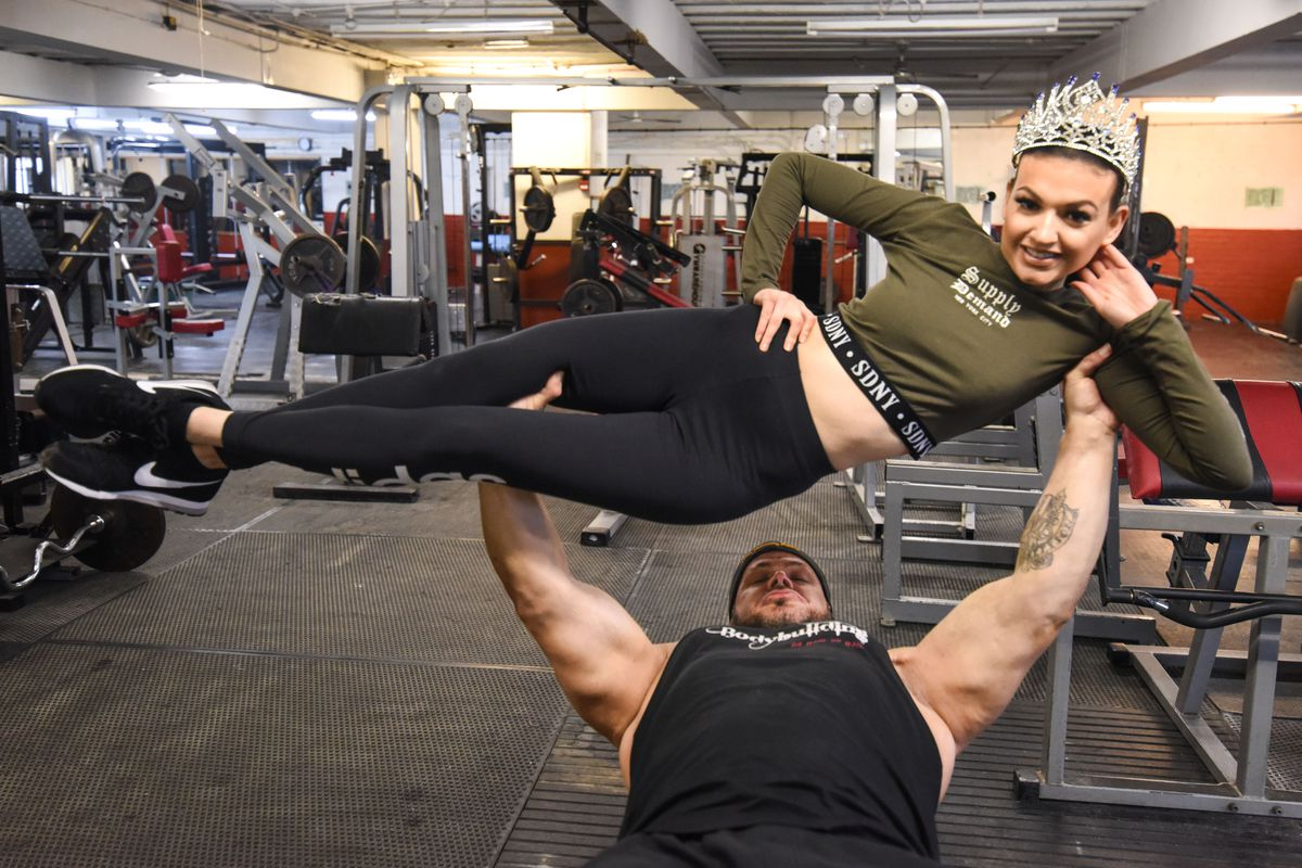 Bryn, 43, can easily bench press his daughter Sacha