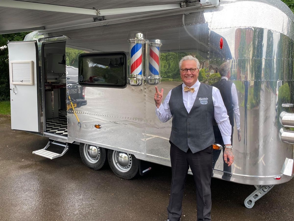 Mark Egerton is ready to reopen with the help of his mobile Rocket barbershop