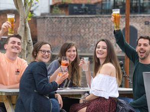 Enjoying the beer garden at the Canal house in Birmingham. Photo: SnapperSK
