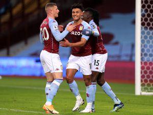 Aston Villa's Ollie Watkins celebrates scoring
