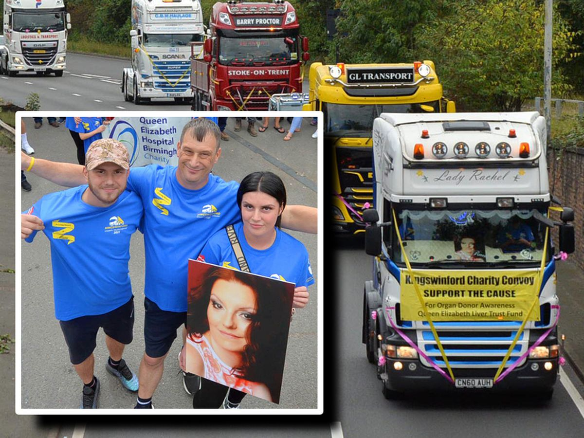 The annual Kingswinford Charity Truck Convoy in honour of Rachel Day