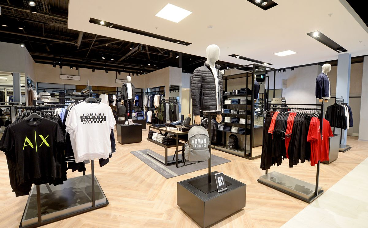 Designer clothing brands at the new Frasers store