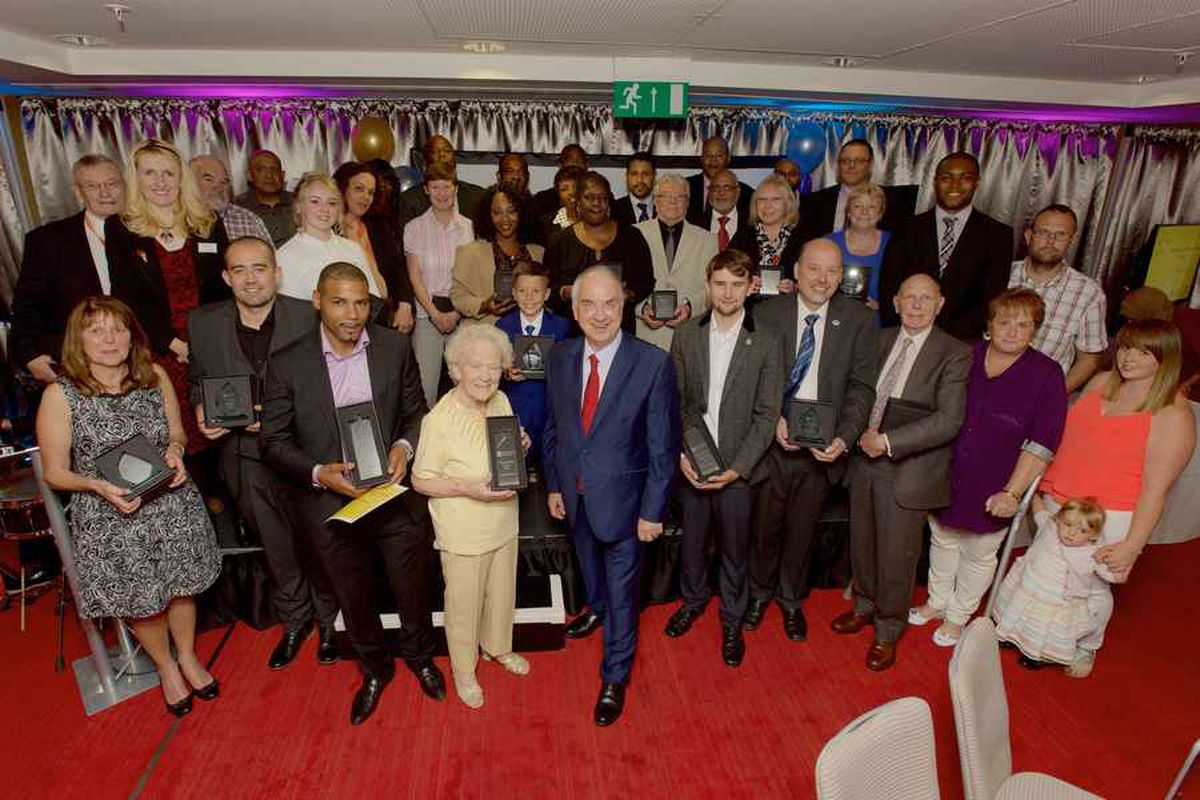 All of the winners and runners up at the West Midlands Police and Crime Commissioner awards