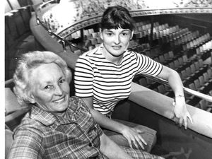 Mary Arch, from Stowheath Lane, Wolverhampton, at the open day with her daughter Kathryn, 21, in 1983