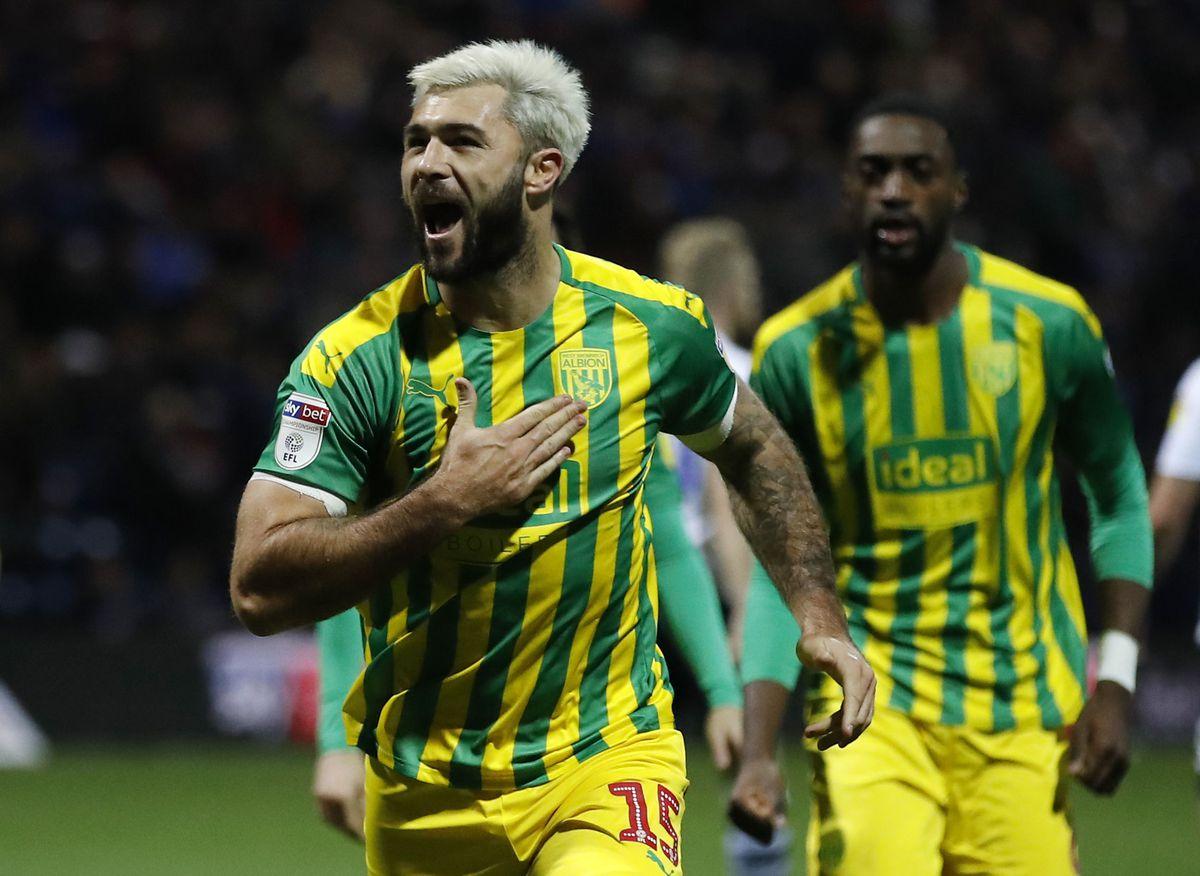 West Bromwich Albion's Charlie Austin celebrates scoring (Martin Rickett/PA Wire)