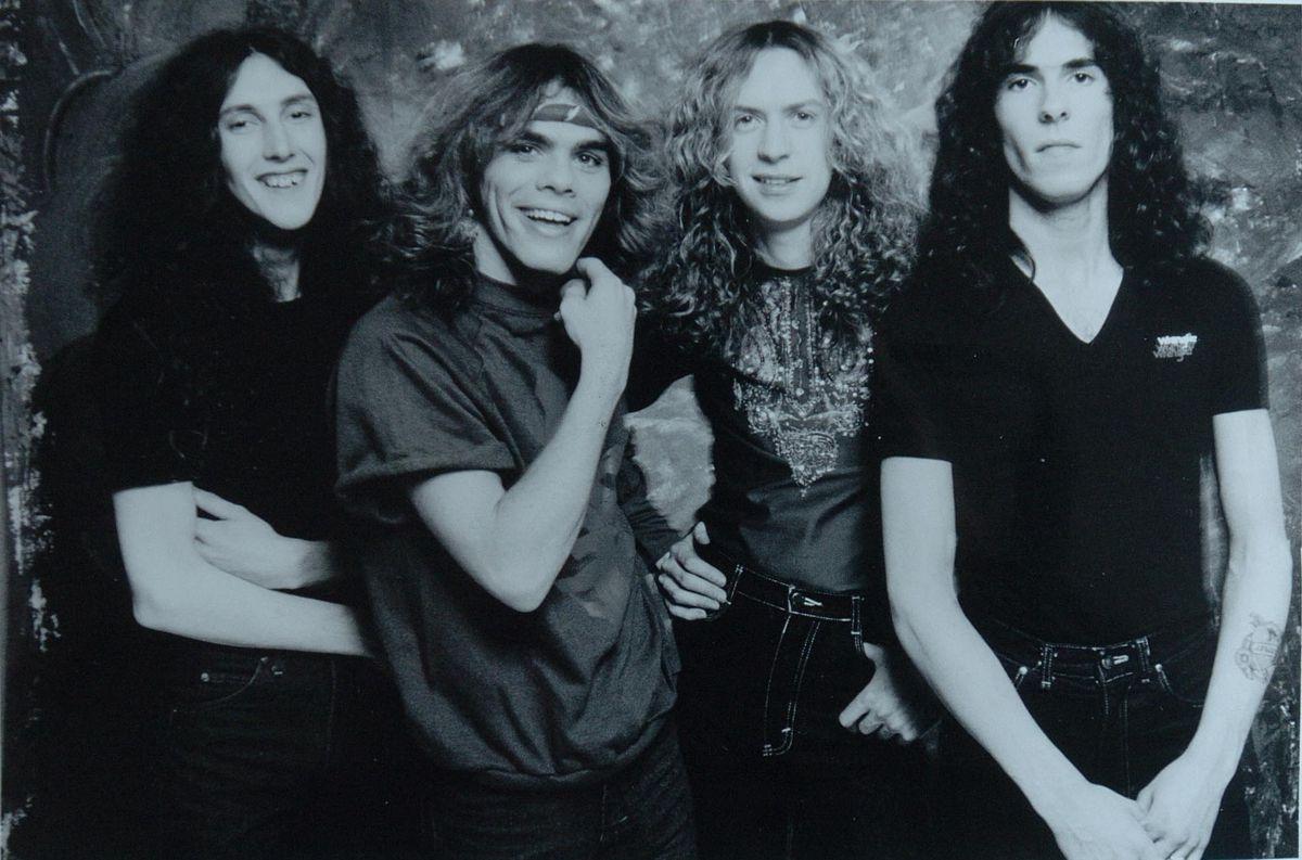 Diamond Head in 1982, from left, Colin Kimberley, Sean Harris, Brian Tatler and Duncan Scott