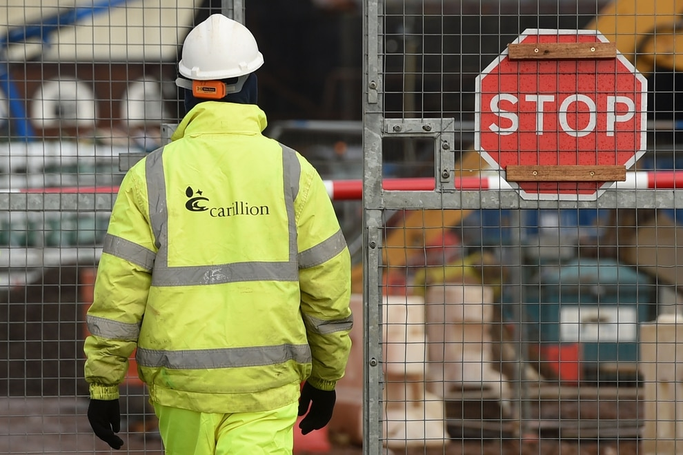 Carillion job losses near 1000 following fresh redundancies