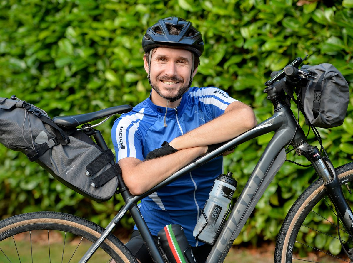 Arron Bryan from Heath Hayes cycled 1,250 miles from John O Groats to Lands End, in aid of Cancer Research UK.