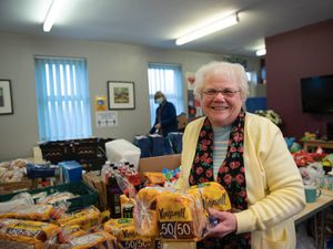 Bread being donated to West Bromwich Food Bank