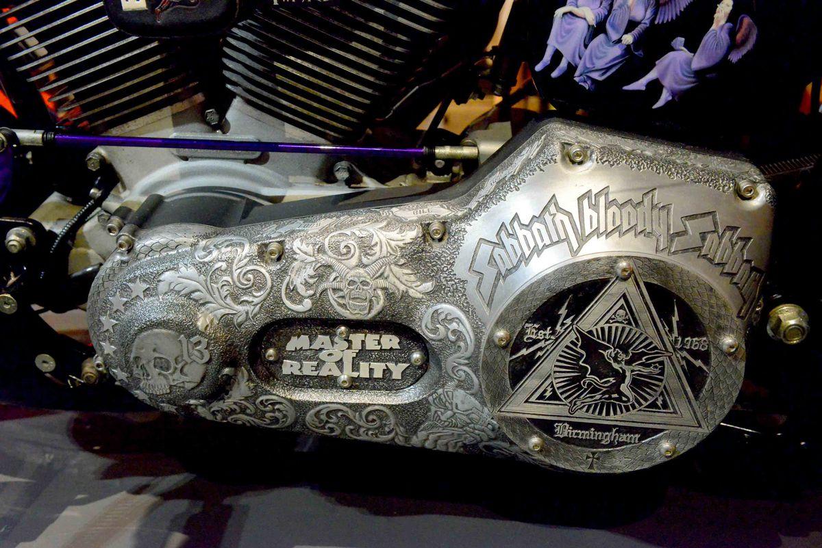 Details of the Sabbath themed bike