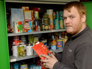 Adam Tilsley, project manager at Cannock & District Food Bank, is appealing for help to restock the shelves