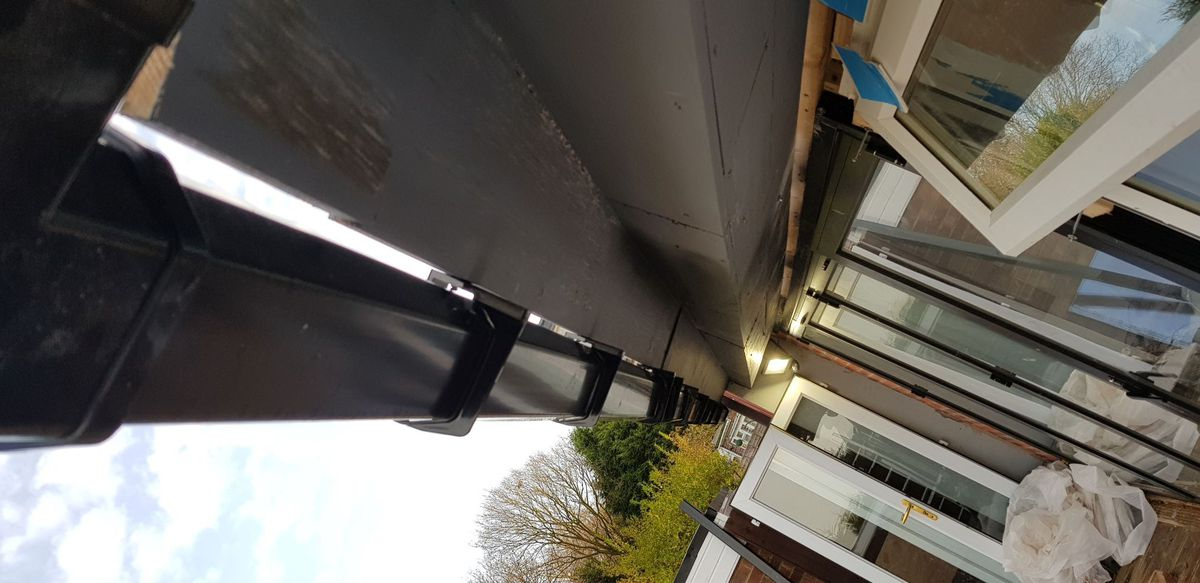 Gap in the guttering which ran alongside the extension. Photo: Wolverhampton Council