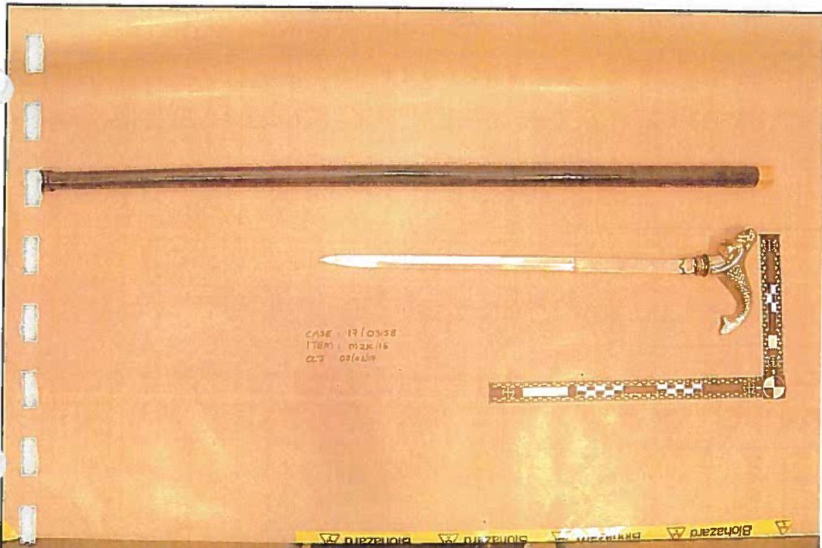 The murder weapon. Photo: Crown Prosecution Service