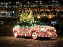 Nissan transforms Leaf into Christmas tree powered by regenerative energy