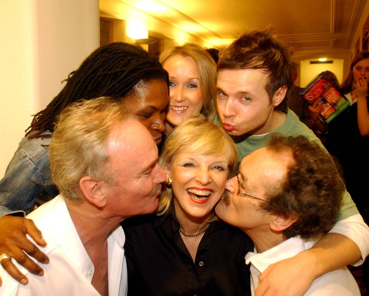 Bobby Ball, front right, with cast members of the Peter Pan at Wolverhampton Grand Theatre pictured at the end of the run in 2004