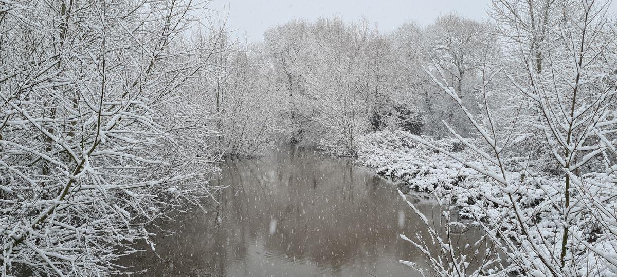 Snow near Bewdley. Photo: Ryan Flavell