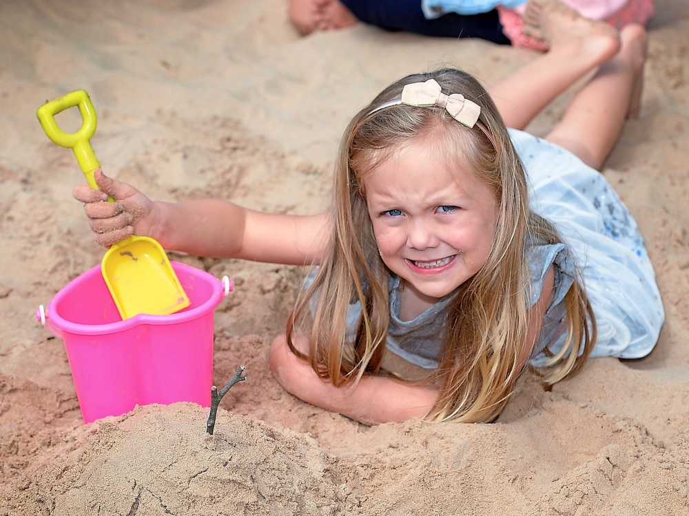 Beach created at Manor House Museum for family fun
